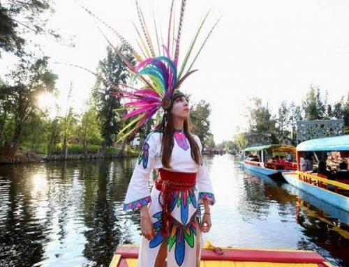 Con espectáculo recrean la leyenda de los volcanes en Xochimilco